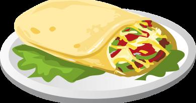 Burrito's met gehakt en paprika uit de oven